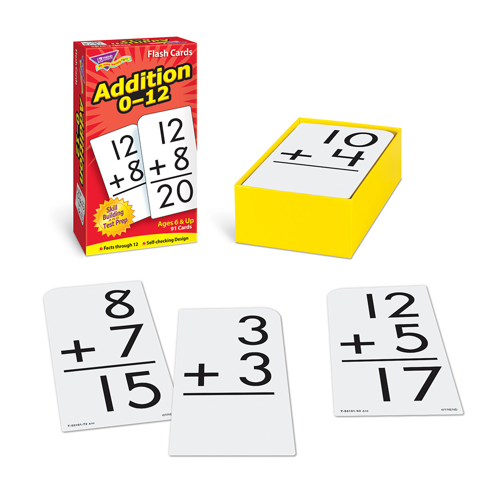 picture about Printable Addition Flash Cards 0-12 named Addition 0-12 Flash Playing cards