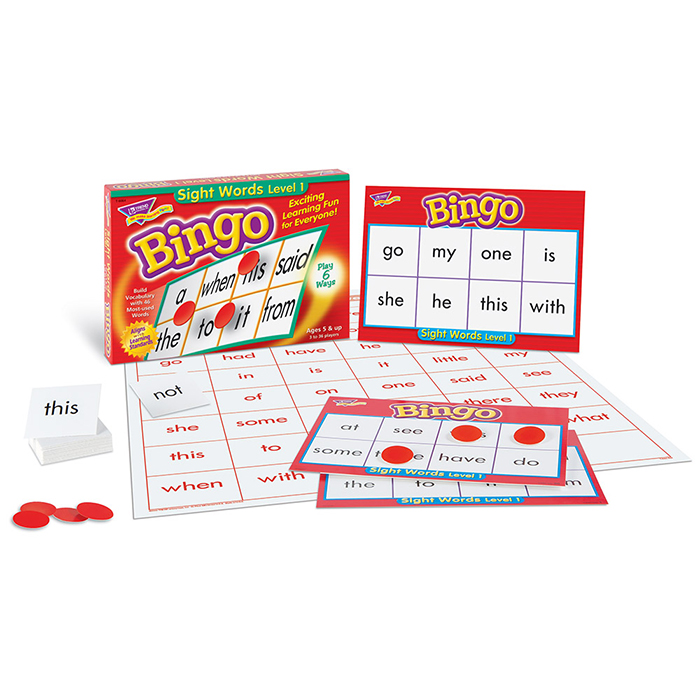 Bingo Sight Words 1 Game