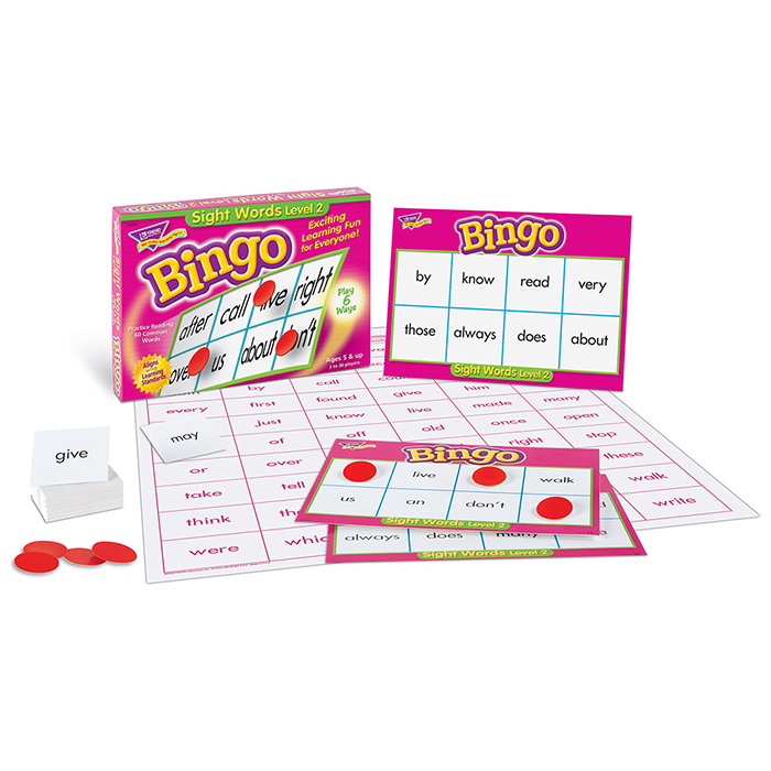 Bingo Sight Words Level 2 Game