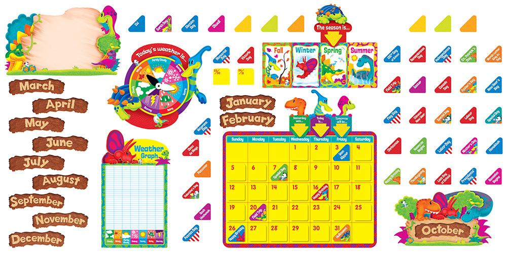 Dino Mite Calendar Bulletin Board Set