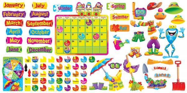 Frog Tastic Calendar Bulletin Board Set