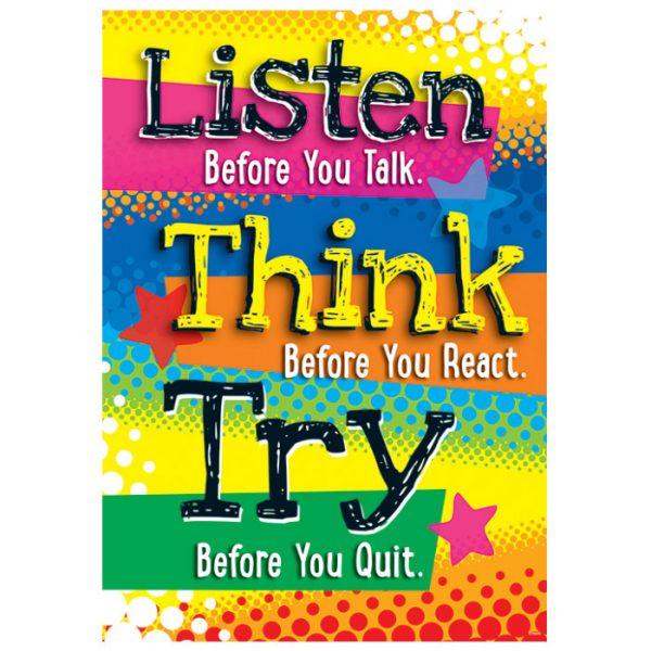 Listen Before You Talk ARGUS Poster