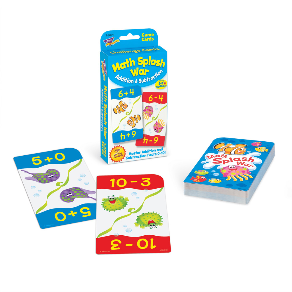 Math Splash War Addition & Subtraction Game
