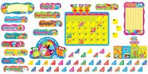 Owl Stars Calendar Bulletin Board Set