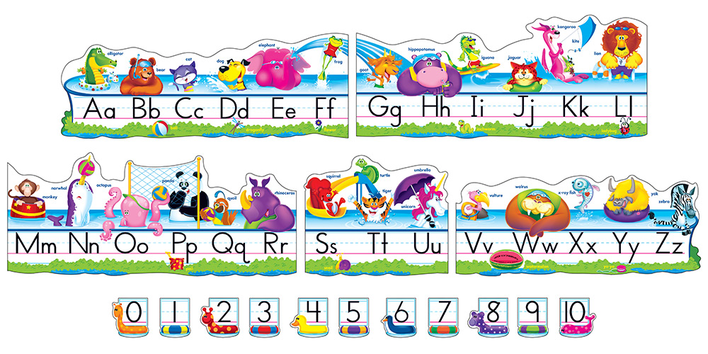 Pool Party Pals Alphabet Line