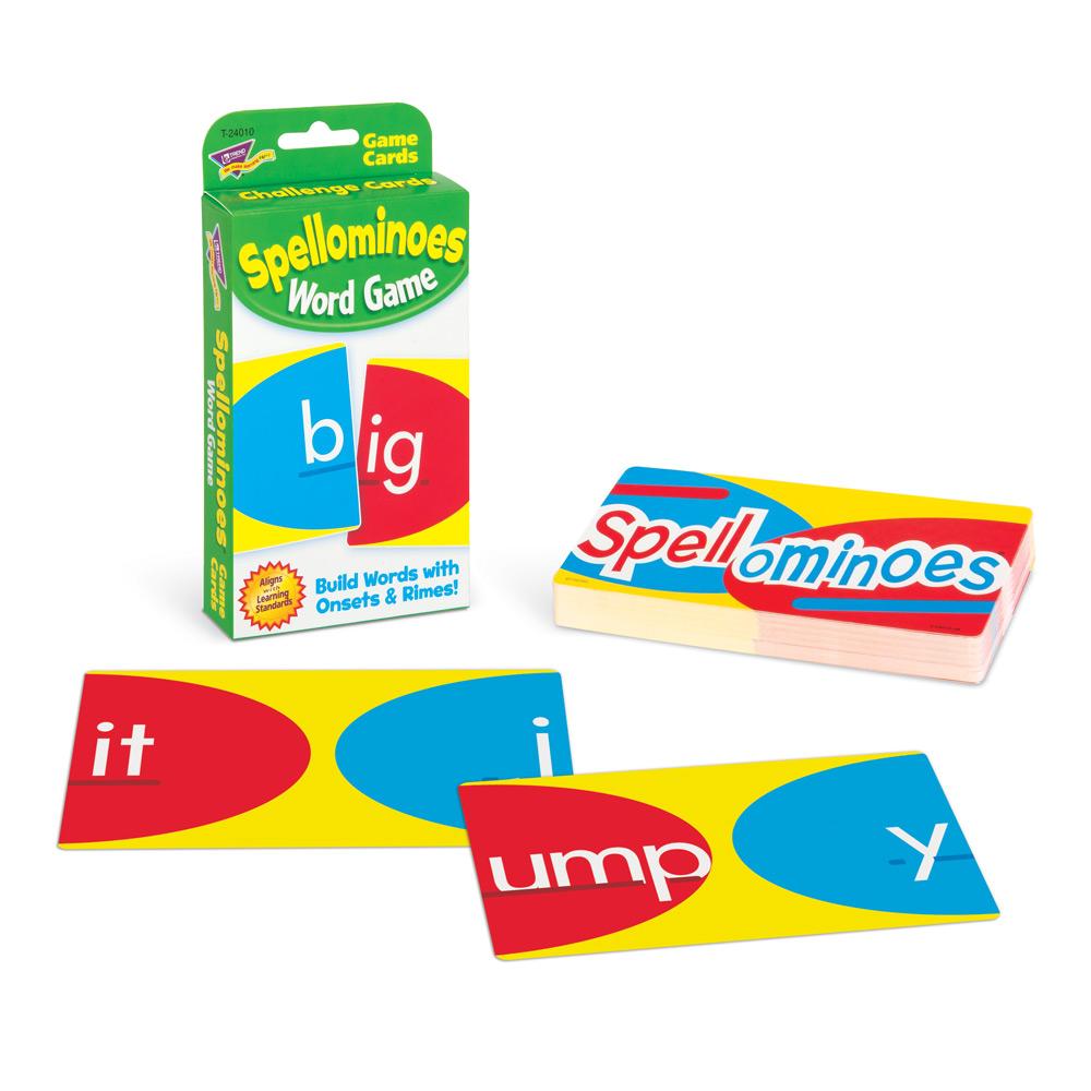 Trend Spellominoes Challenge Cards