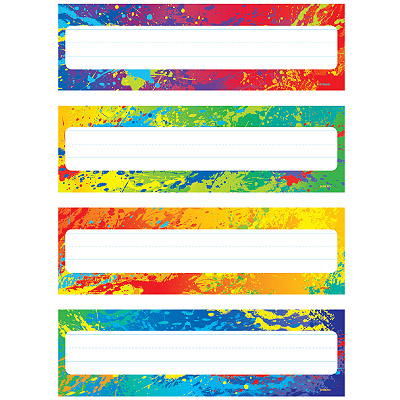 Splasy Colors Name Plate Variety Pack