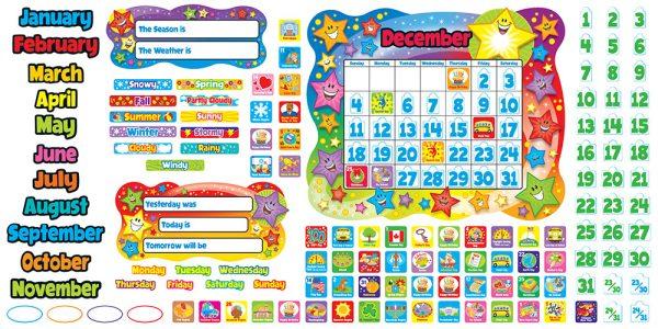 Star Calendar Bulletin Board Set
