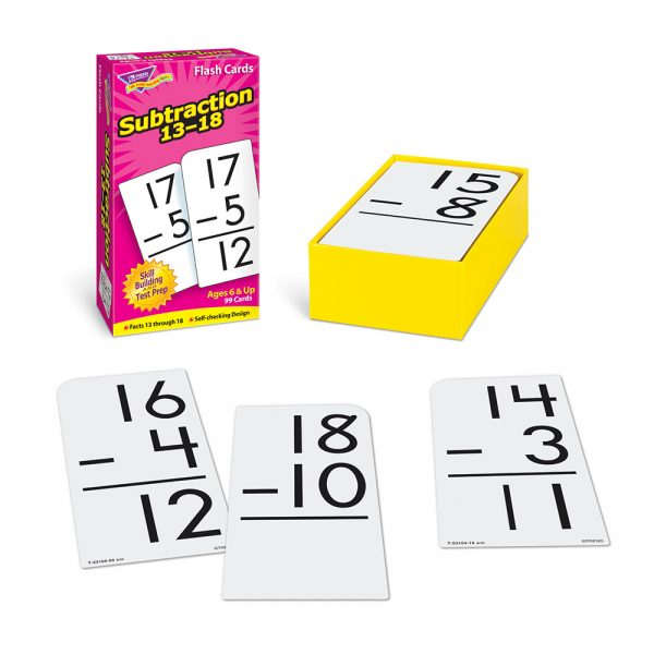 Subtraction 13-18 Flash Cards