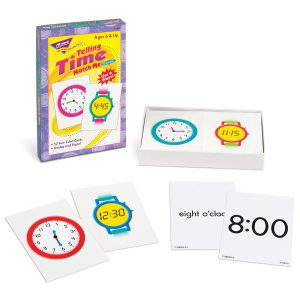 Trend Telling Time Match Me Cards T-58004