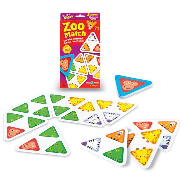 Trend Zoo Match Learning Game T76006