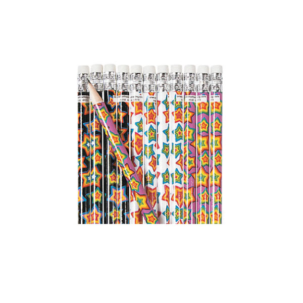 Neon Stars Pencils