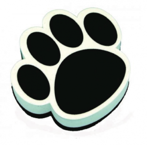 Paw Print Whiteboard Eraser UPC 703185100175