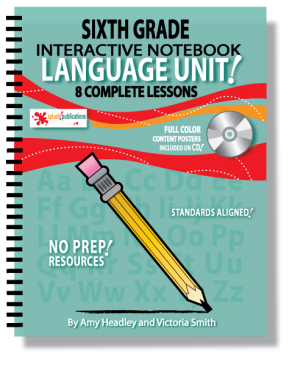 6th Grade Language Interactive Notebook Unit
