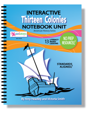 Thirteen Original Colonies Interactive Notebook Unit
