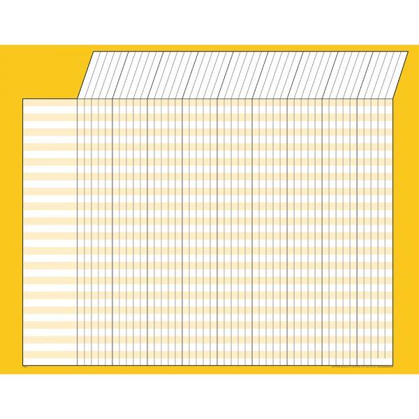 Yellow Horizontal Incentive Chart